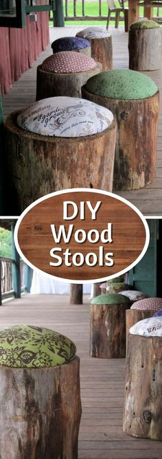 Check out the tutorial on how to make DIY tree stump stools @istandarddesign #DIYHomeDecorTutorial