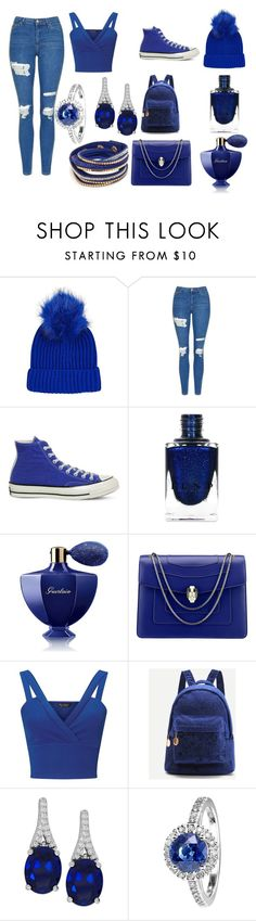 """royals"" by tjedge ❤ liked on Polyvore featuring Topshop, Converse, Guerlain, Bulgari, Miss Selfridge and RenéSim"