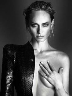 Amber Valletta By Mert & Marcus  by Fashiontography