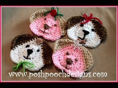 [Video Tutorial] Adorable And Fun, These Crochet Dog Ornaments Will Fit Perfectly Hanging On Your Christmas Tree - Knit And Crochet Daily