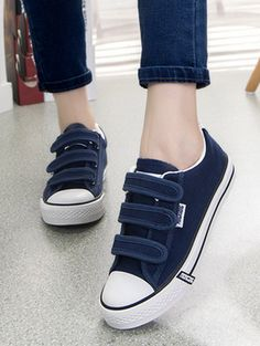 Fashion velcro brief comfortable round toe casual shoes QF-004