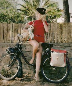 Catherine Deneuve in St. Tropez, 1965. Photo by Milton H. Greene.