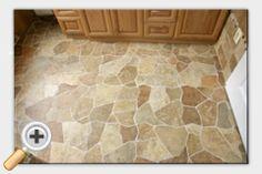 Broken tile floor