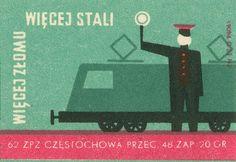 vintage Polish matchbox labels.
