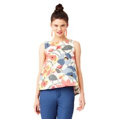 Trapeze Top in Photo Floral - Kate Spade Saturday
