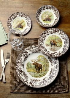 The Spode Woodland Majestic Moose Collection