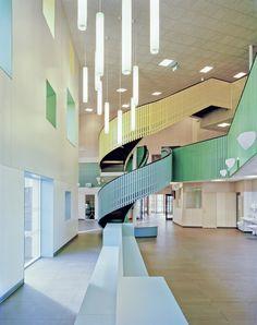 Designed by Kjellgren Kaminsky Architecture, the Kollaskolan School is one of the largest passive-house buildings in #Sweden.