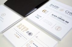B&C Wedding Invites by Chad Michael, via Behance