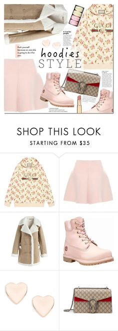 """""""Hoodies"""" by mery90 ❤ liked on Polyvore featuring Gucci, RED Valentino, Chicwish, Timberland, Ted Baker, Anja, casualoutfit and Hoodies"""