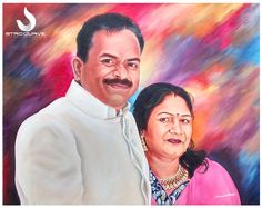 #StroCurve My Latest Portrait painting work to my client... Medium: Acrylic on canvas, Size: 30 x 24 inches For more details contact us:9652579869