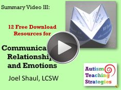 12 free social skills downloads are described in this video, the third in a series of summary videos from autismteachingstrategies.com