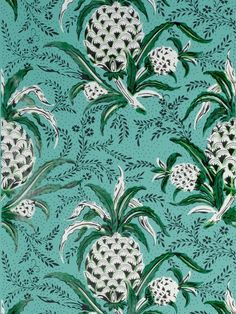 Pineapples are so hokey used wrong... These are all right. Adelphi Custom and Historic Wallpaper and Paper Hangings