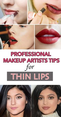 Professional makeup artists tips for thin lips