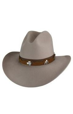 -100% Wool Cowboy Hat -Grosgrain and Leather Hat Band -Gus Crown - 84e0faaf049