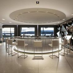 The Glow bar, lounge restaurant, Hotel President Wilson in Geneva _
