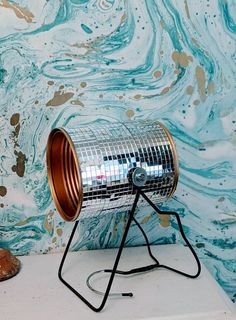 Recycled Lamp, Desk Gifts, Mirror Ball, Bedside Lighting, Tin Cans, Water Quality, Unique Lamps, Decoupage Paper, Disco Ball