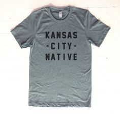 Kansas City Native Tee Grey by AndieMakes on Etsy