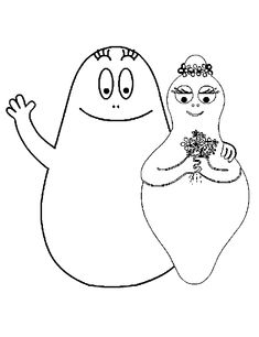 Free colouring pages for Barbapapa.