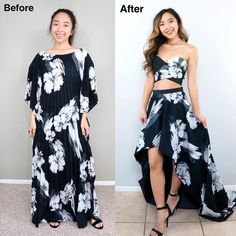 """7,149 Likes, 262 Comments - April (@coolirpa) on Instagram: """"Thrifted Transformations Ep. 43 - Turning this dress into a high low skirt was a lot easier than it…"""""""