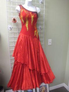 Red Fire Flames dress