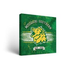 """Victory Tailgate NCAA Banner Vintage Design Framed Graphic Art on Wrapped Canvas Size: 36"""" H x 36"""" W x 1.5"""" D, NCAA Team: Missouri Southern State L..."""