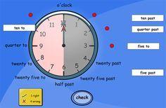 Interaktive Uhren für das Erlernen der Uhrzeit im Englischunterricht werden immer wieder gebraucht. Das Internet bietet hier einige sehr brauchbare Varianten – auch für den Einsatz am interaktiven Board.