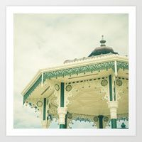 Art Prints by Cassia Beck Brighton, Gazebo, Outdoor Structures, Art Prints, Design, Art Impressions, Kiosk, Pavilion