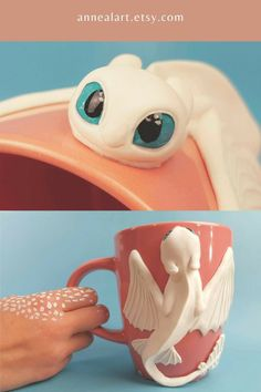 Polymer Clay Crafts, Resin Crafts, Story Stones, Cute Clay, Cool Inventions, Cute Mugs, How To Train Your Dragon, Cute Disney, Clay Creations