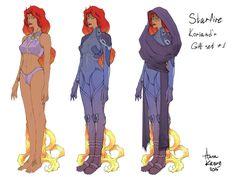 DC comics Starfire Koriand'r  AU D.S. al Coda