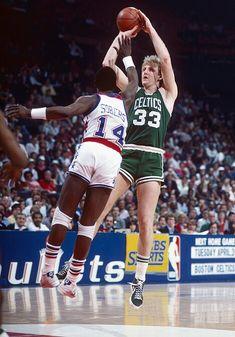 Larry Bird and Ricky Sobers (Washington Bullets)