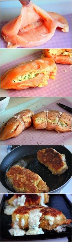 Pepperoni  Mozzarella Stuffed Chicken Breasts Recipe (I use Cup4Cup flour  Ian's bread crumbs) this is a family favorite! ~GF Cheryl~ @ http://myrecipemagic.com/recipe/recipedetail/how-to-bake-chicken-breasts-to-perfection