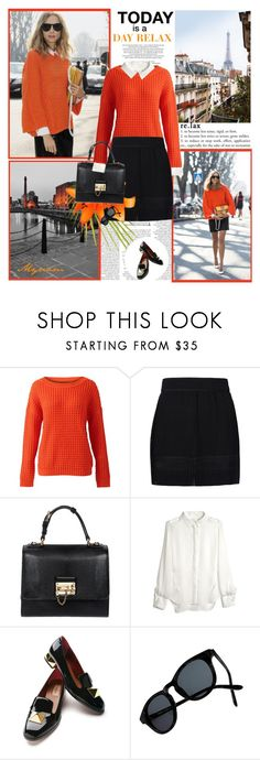 """""""TODAY IS A DAY RELAX"""" by lovemeforthelife-myriam ❤ liked on Polyvore featuring Candela, VILA, SemSem, Dolce&Gabbana, Prabal Gurung, Valentino and Madewell"""