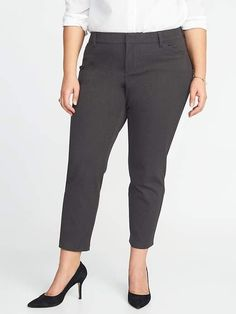 bd2da27f7c44d Old Navy Mid-Rise Plus-Size Secret-Slim Pockets Pixie Pants