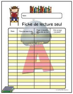 www.creationbleubarbo.ca France, School, Preschool Classroom, Index Cards