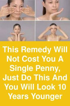 This remedy will not cost you a single penny, just do this and you will look 10 years younger The ma Self Massage, Facial Massage, Japanese Face Massage, Japanese Medicine, Face Mapping, Acupressure Points, Face Contouring, Massage Techniques, Face Skin