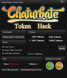 Chaturbate Hack Token Tool