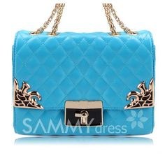 $20.17 Casual Stylish Women's Shoulder Bag With Metallic and Checked Design