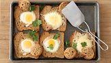 Baked Bull's-Eye Eggs