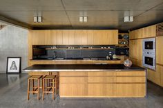 The open-plan kitchen.