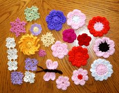 Don't forget to crochet some flowers! Just not the weird color pairings!