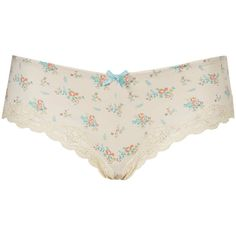 TOPSHOP Bouquet Floral Ladypants ($5.94) ❤ liked on Polyvore featuring intimates, panties, underwear, lingerie, undies, cream, topshop, creamed panties, underwear lingerie and floral print panties