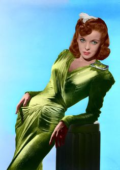 Ida Lupino (4 February 1918 – 3 August 1995) Coloured by ajax1946.deviantart.com  I'd wear that, mostly because I love the color green.