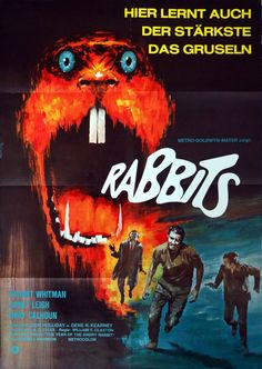 German poster for NIGHT OF THE LEPUS (William F. Claxton, USA, 1972) Artist: Lutz Peltzer(1925-2003) Poster source: ExB