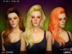 H007 ETERNITY Female Hair by JAKEASims at TSR via Sims 4 Updates