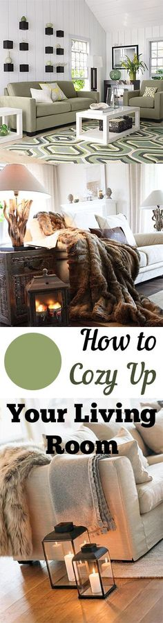 How to cozy up your living room- tips, tricks and ideas for warming up your living space.