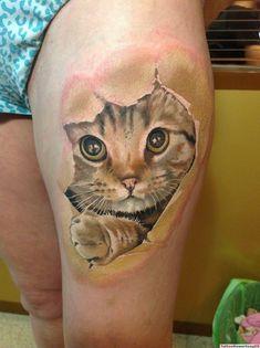 3D Tattoo Katze Arm Tattoo