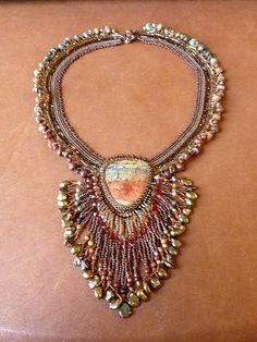 Red Creek Jasper necklace by iamcr8ve, via Flickr