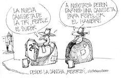 """Les dejamos ahora con nuestra caricatura:  """"Desde la cancha"""""""