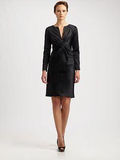 Callula Lillibelle - Silk Cross-Over Dress - Saks.com