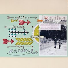 #papercraft #scrapbook #layout. Together scrapbook layout by Kelly Noel